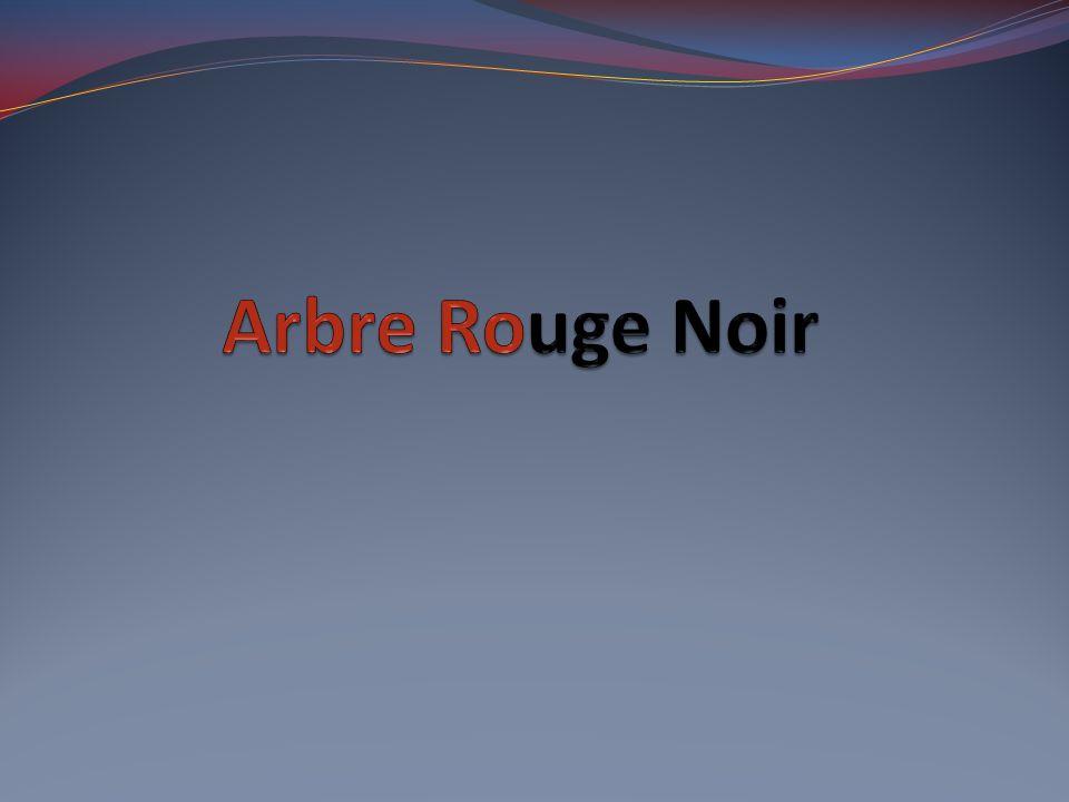 Arbre Rouge Noir