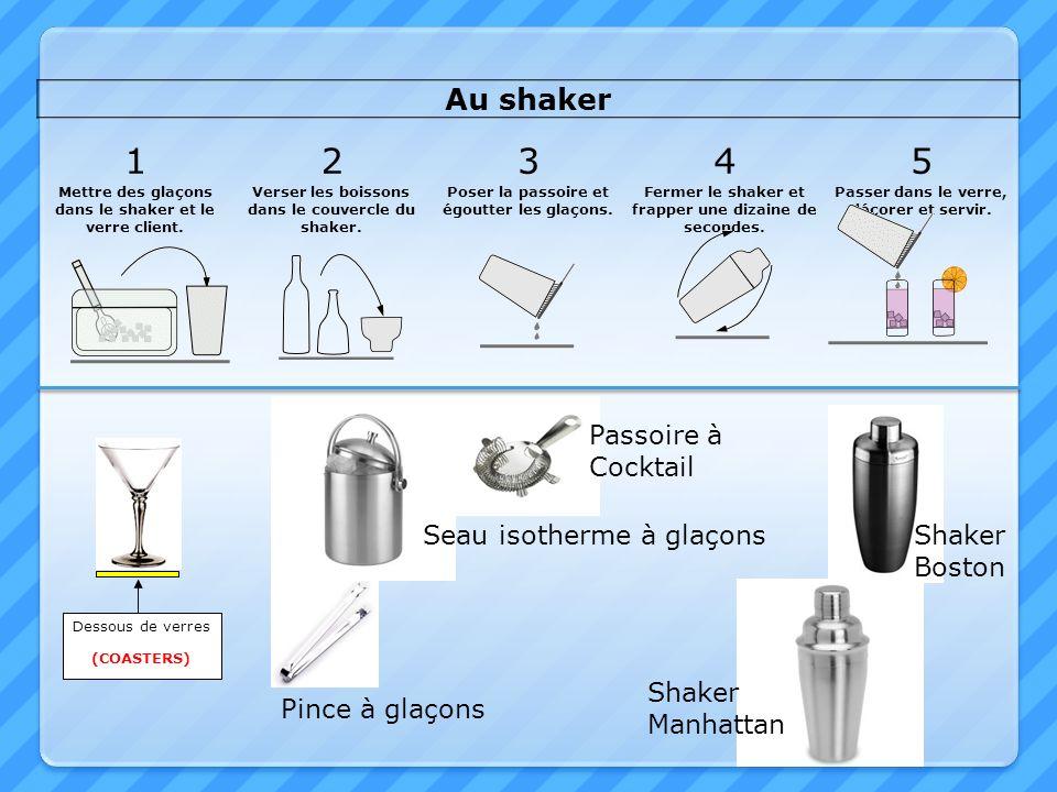 1 2 3 4 5 Au shaker Passoire à Cocktail Seau isotherme à glaçons