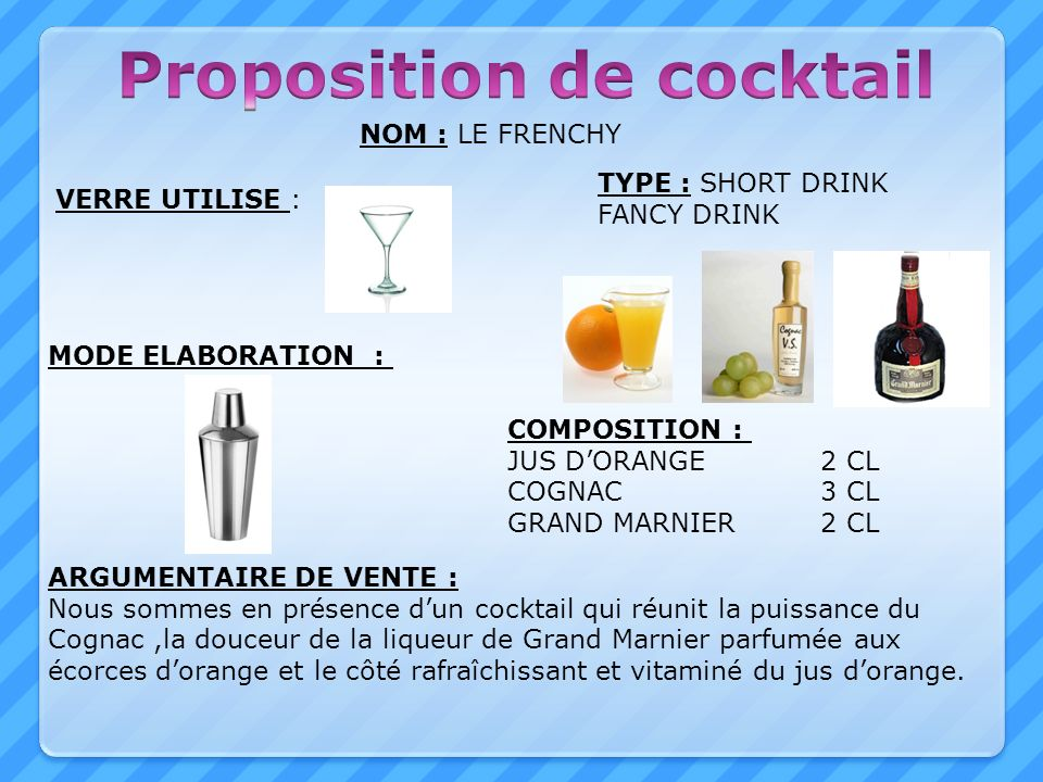 Proposition de cocktail