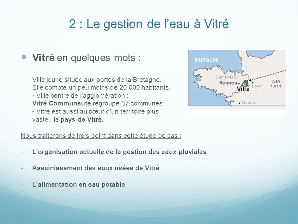 2 : Le gestion de l'eau à Vitré