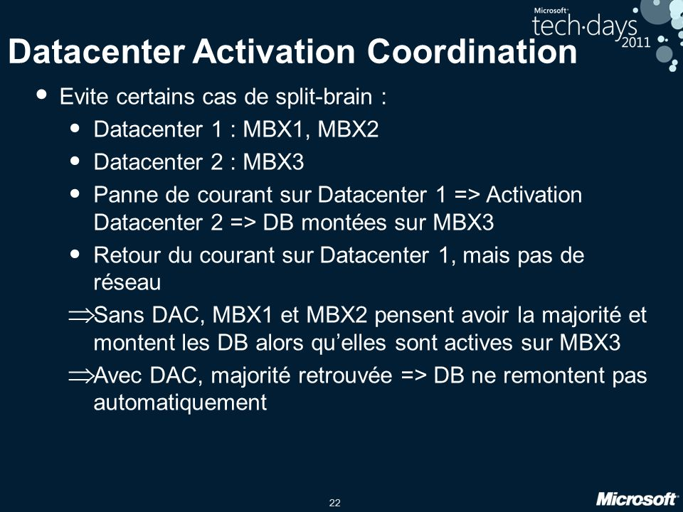 Datacenter Activation Coordination