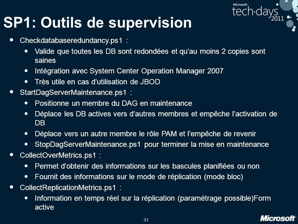 SP1: Outils de supervision