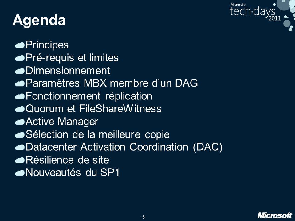 Agenda Principes Pré-requis et limites Dimensionnement