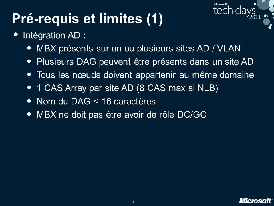 Pré-requis et limites (1)