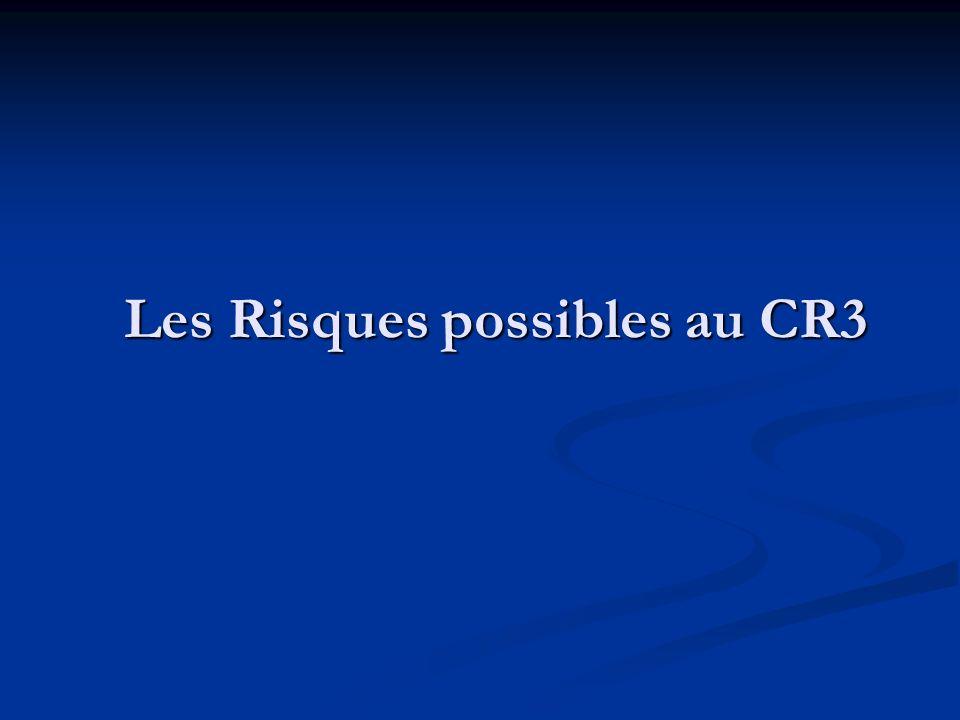 Les Risques possibles au CR3