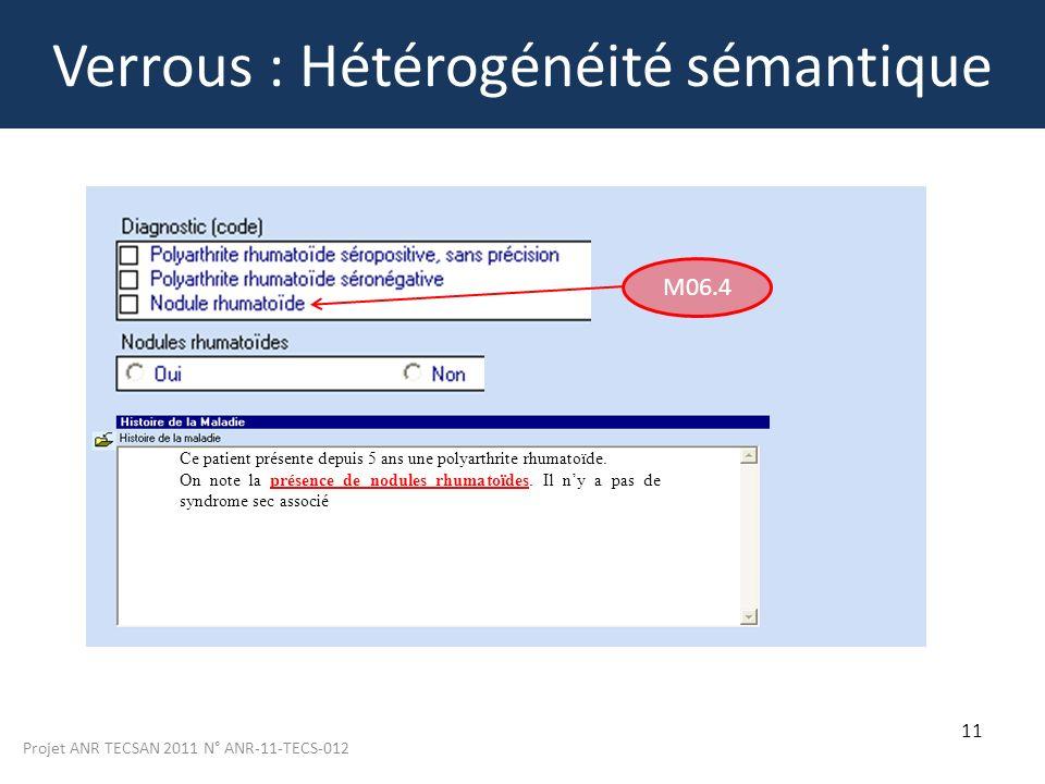 Verrous : Hétérogénéité sémantique