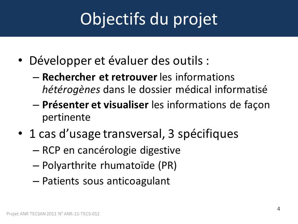 Objectifs du projet Développer et évaluer des outils :