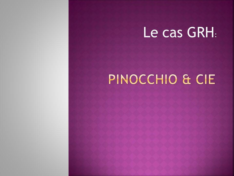Pinocchio & cie Le cas GRH: