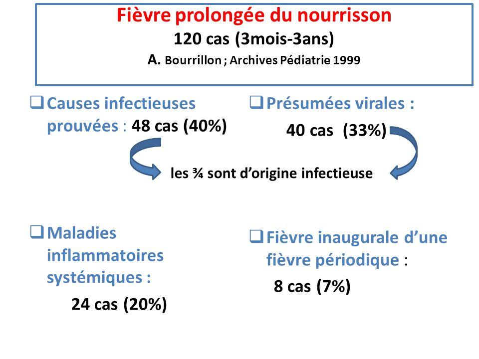 Fièvre prolongée du nourrisson 120 cas (3mois-3ans) A