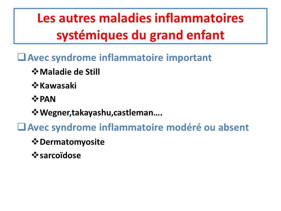 Les autres maladies inflammatoires systémiques du grand enfant