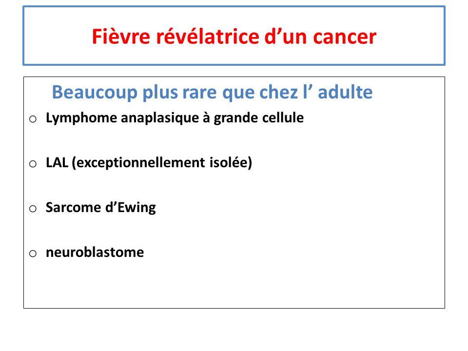 Fièvre révélatrice d'un cancer
