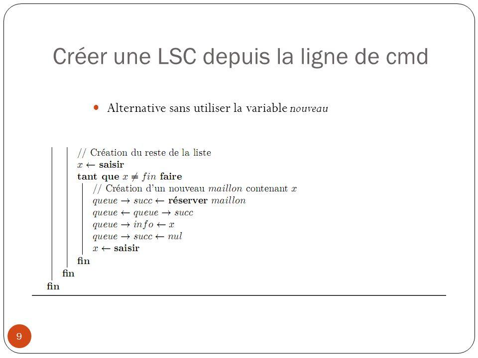 Créer une LSC depuis la ligne de cmd