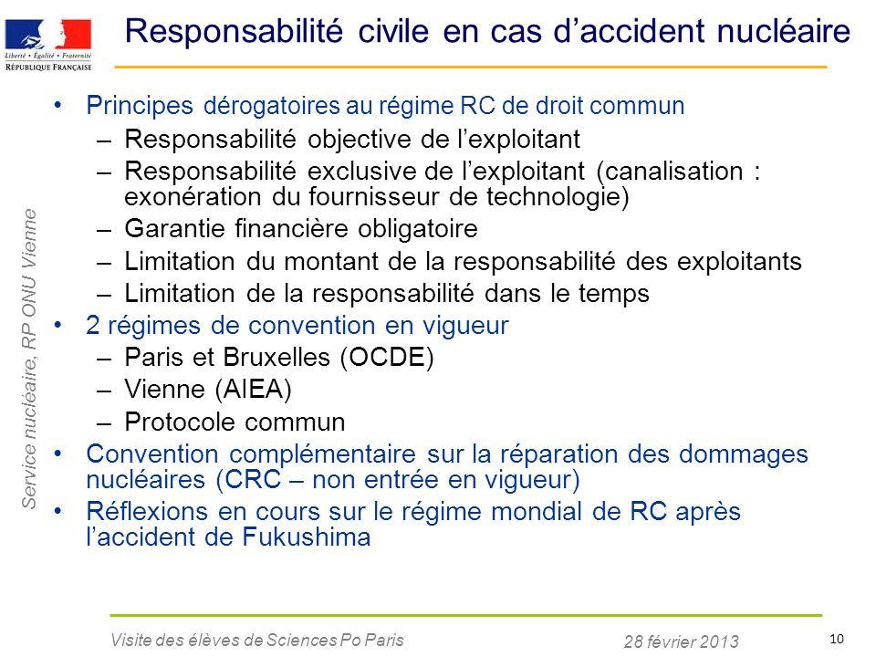 Responsabilité civile en cas d'accident nucléaire