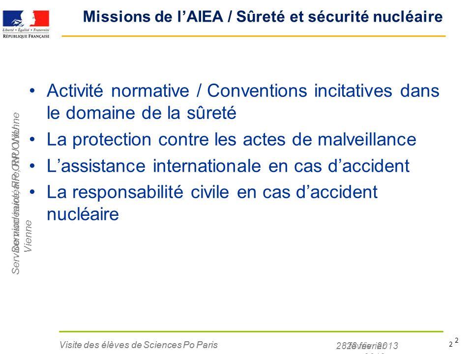 Missions de l'AIEA / Sûreté et sécurité nucléaire