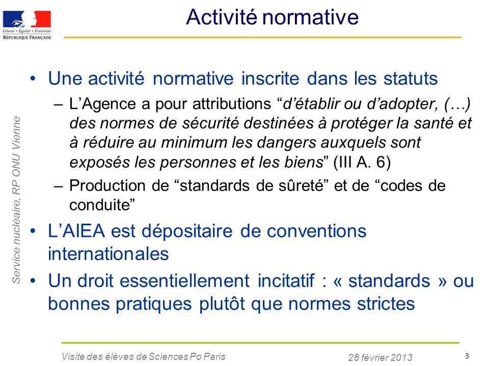 Activité normative Une activité normative inscrite dans les statuts