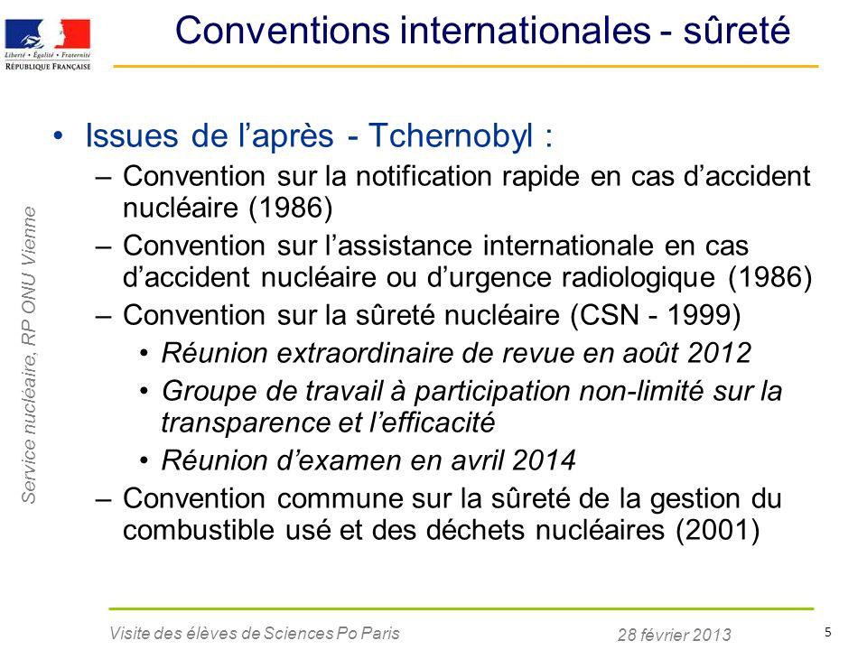 Conventions internationales - sûreté