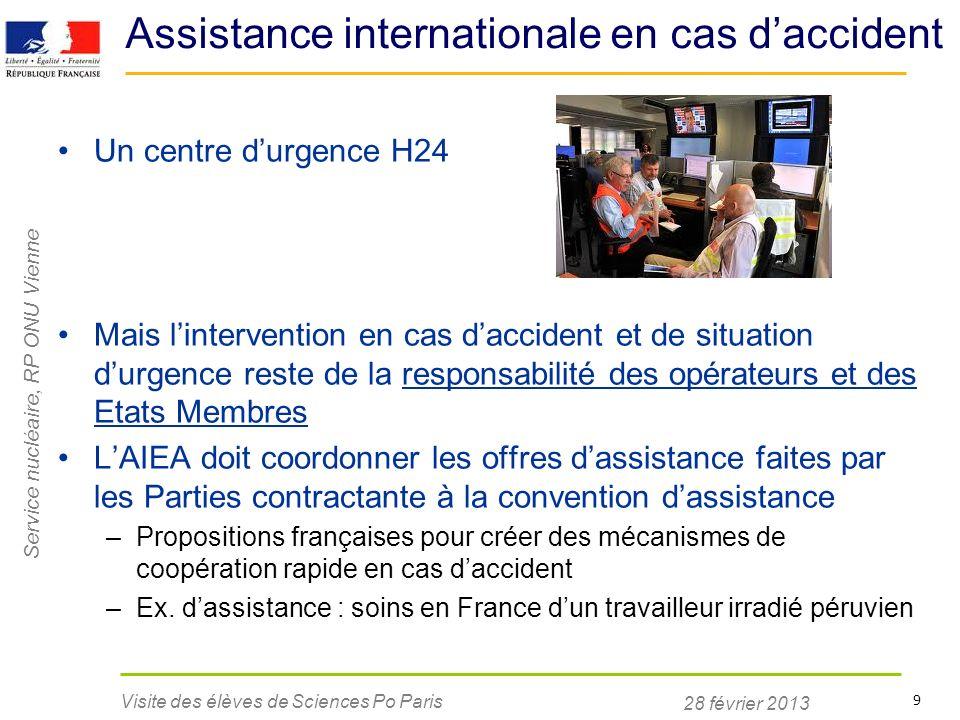 Assistance internationale en cas d'accident