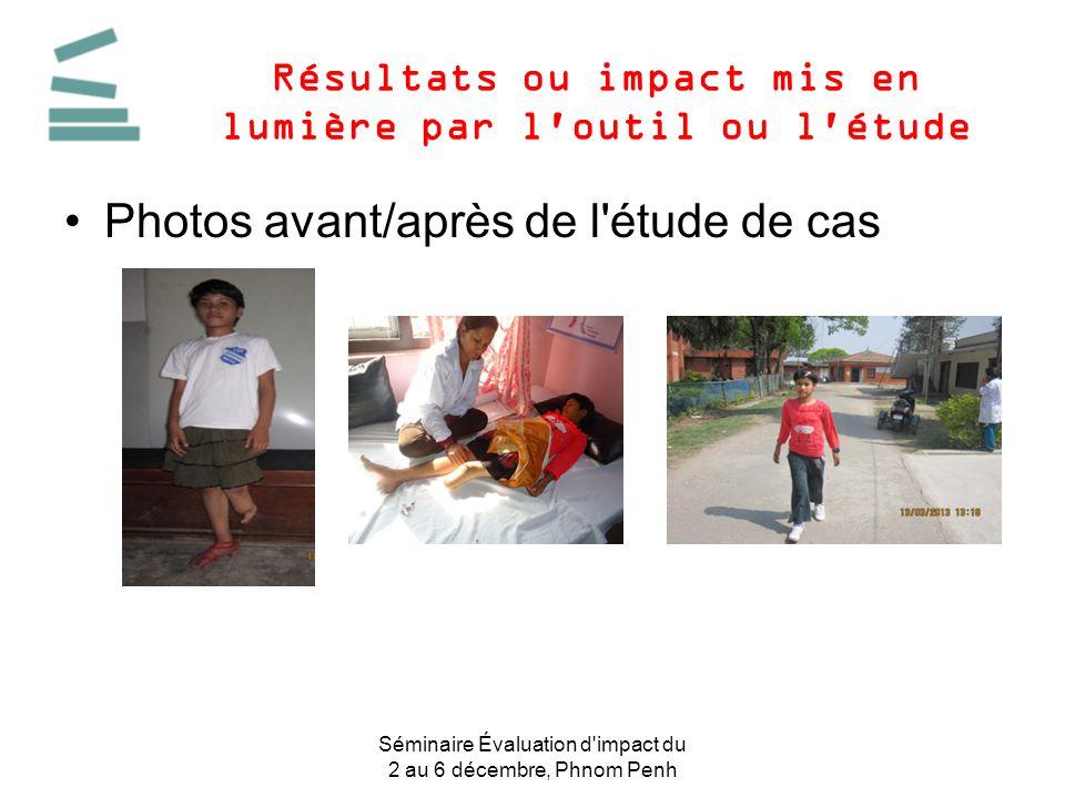 Résultats ou impact mis en lumière par l outil ou l étude