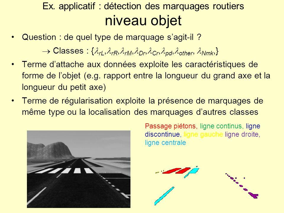 Ex. applicatif : détection des marquages routiers niveau objet