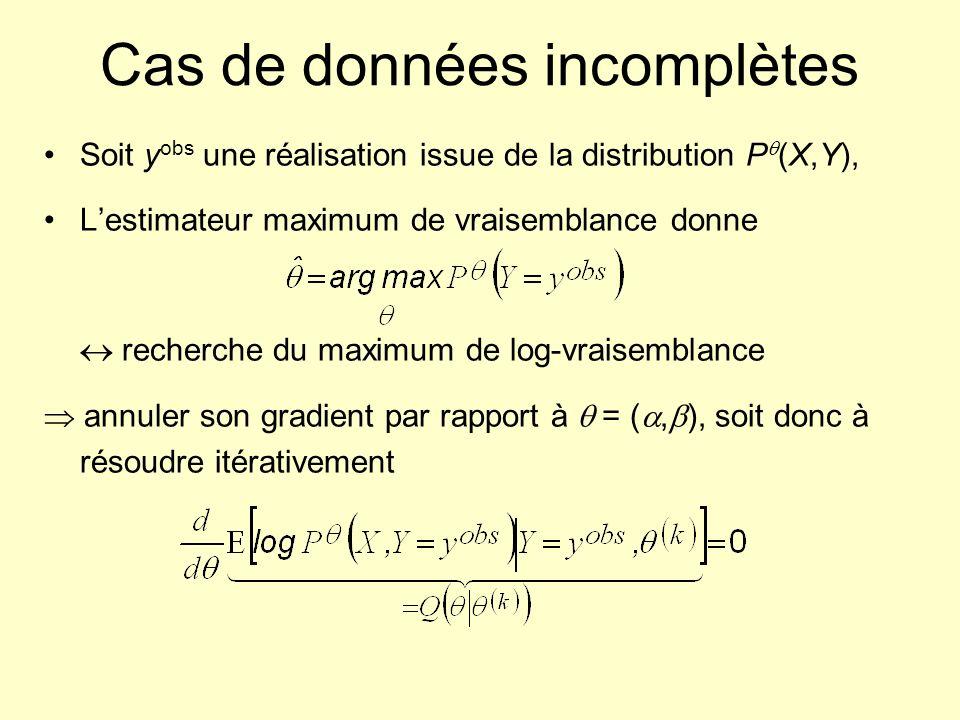 Cas de données incomplètes
