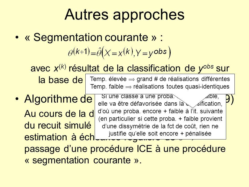 Autres approches « Segmentation courante » :