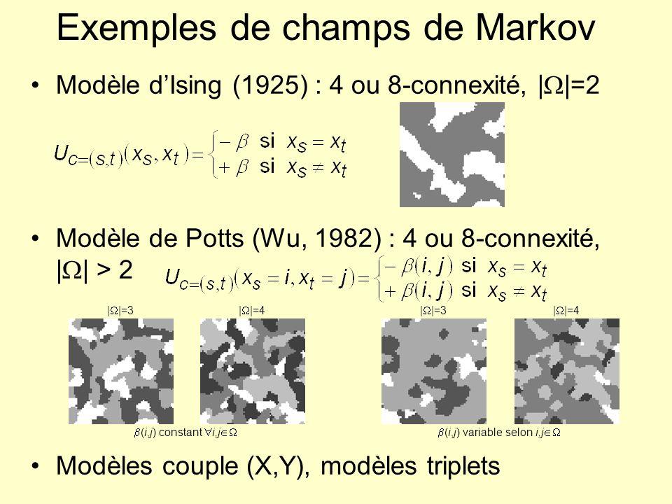 Exemples de champs de Markov