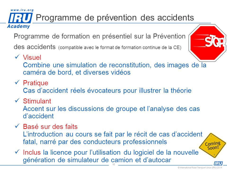 Programme de prévention des accidents
