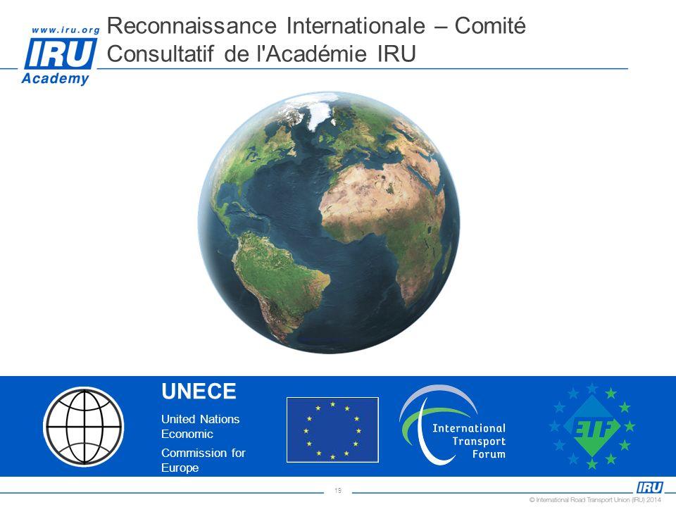 Reconnaissance Internationale – Comité Consultatif de l Académie IRU