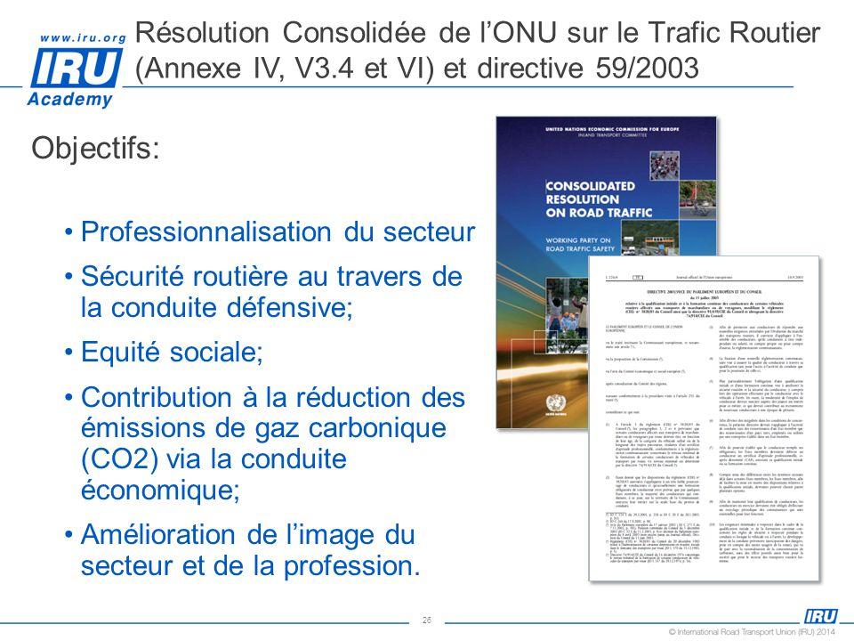 Résolution Consolidée de l'ONU sur le Trafic Routier (Annexe IV, V3