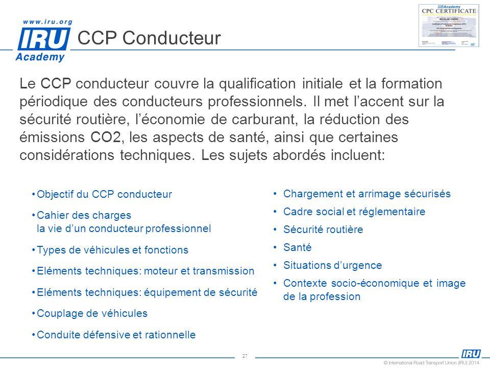 CCP Conducteur