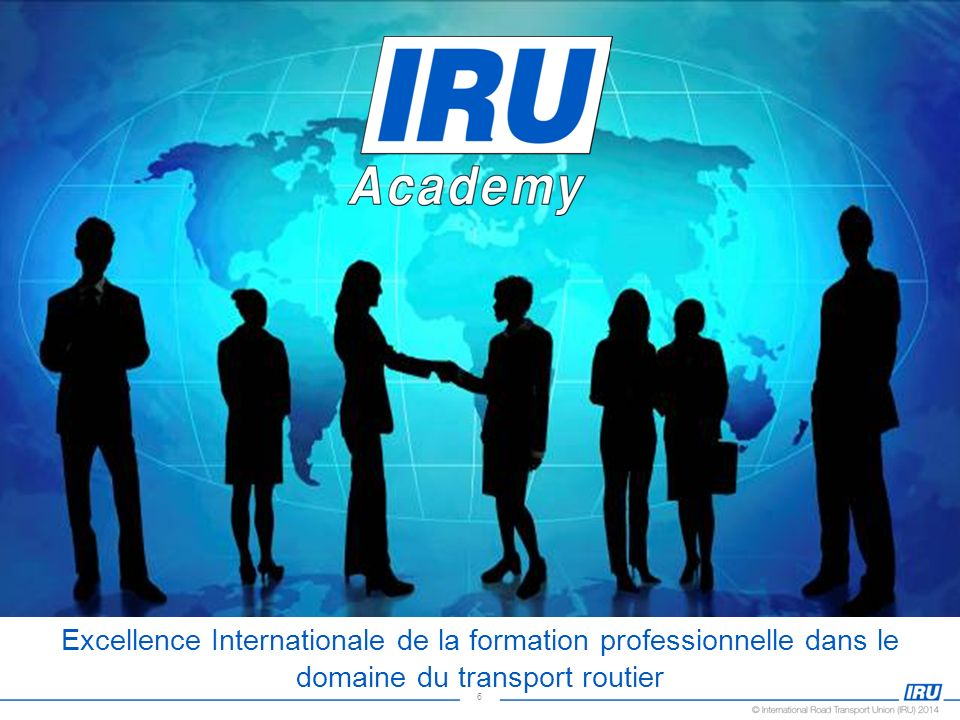 The objective of the IRU Academy, the training arm of the IRU is to develop and disseminate high quality training programmes that will help to provide the necessary knowledge and skills to the professional active in the road transport industry.