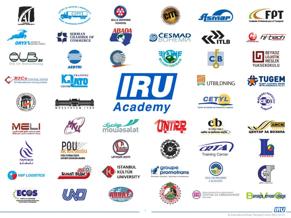 50The IRU Academy doesn't work alone