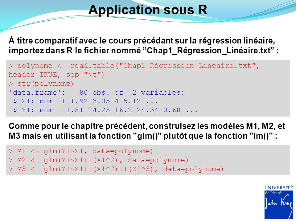 Mod les lin aires g n ralis s glms ppt video online for Sur la table application