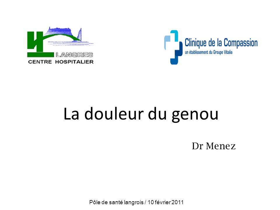 La douleur du genou Dr Menez