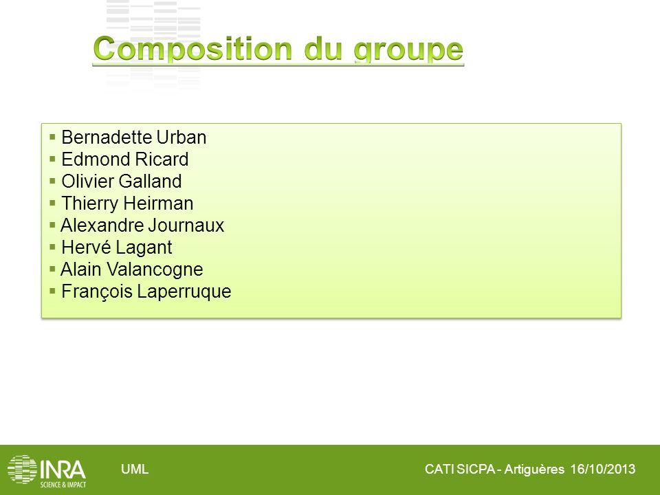 Composition du groupe Bernadette Urban Edmond Ricard Olivier Galland
