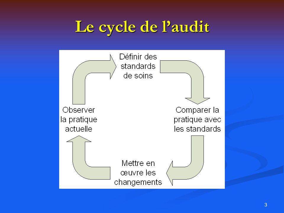 Le cycle de l'audit