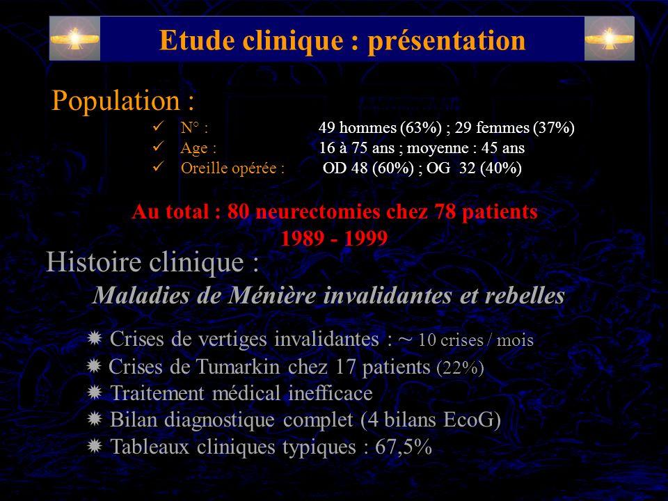 Etude clinique : présentation