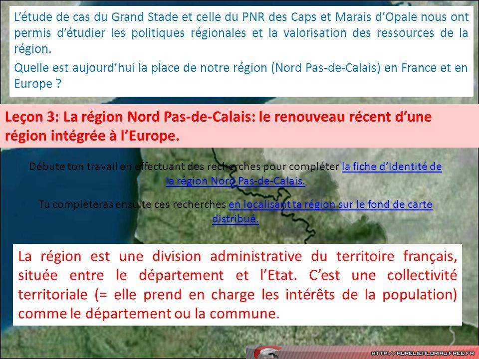 L'étude de cas du Grand Stade et celle du PNR des Caps et Marais d'Opale nous ont permis d'étudier les politiques régionales et la valorisation des ressources de la région.