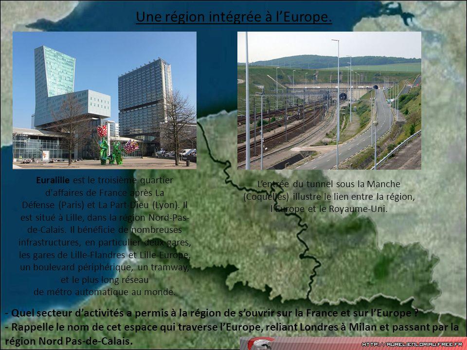 Une région intégrée à l'Europe.