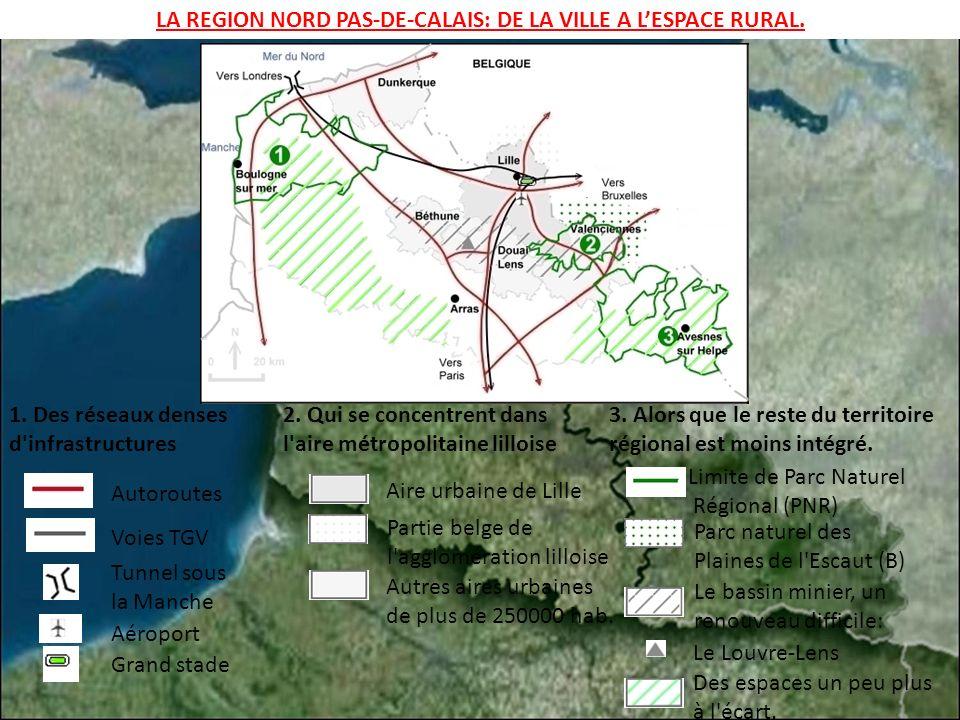 LA REGION NORD PAS-DE-CALAIS: DE LA VILLE A L'ESPACE RURAL.