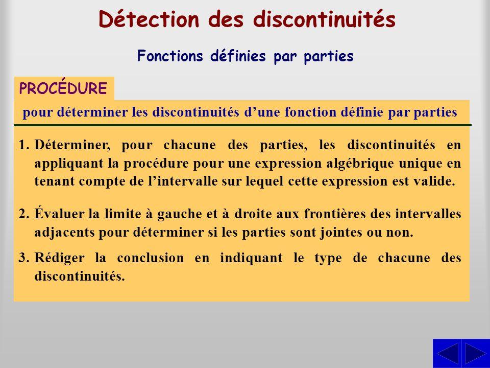 Détection des discontinuités