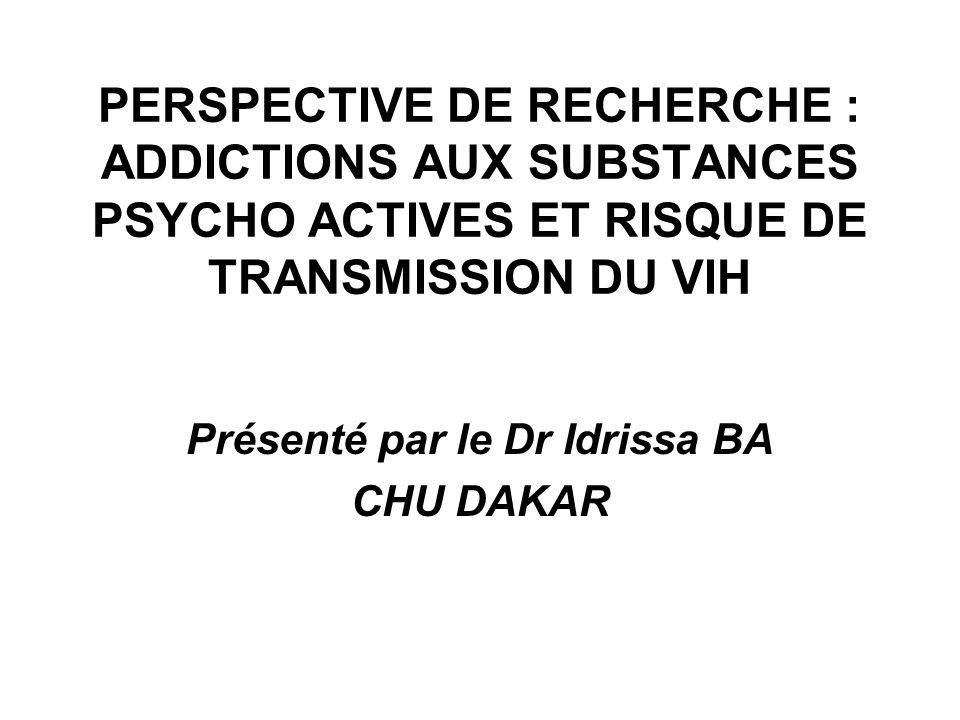 Présenté par le Dr Idrissa BA CHU DAKAR