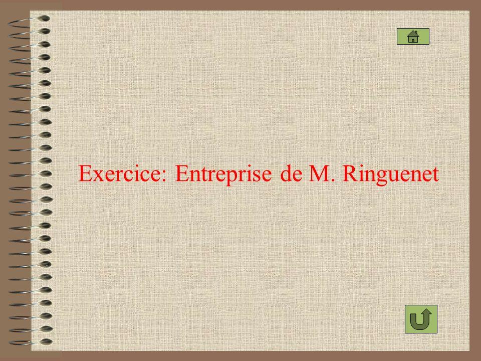 Exercice: Entreprise de M. Ringuenet