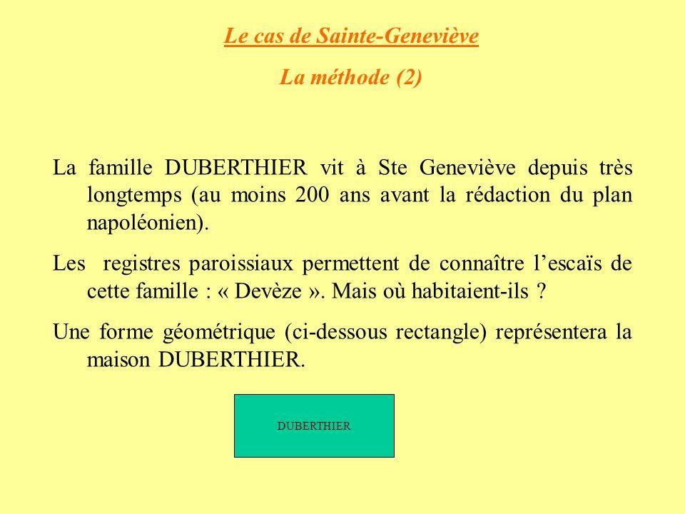 Le cas de Sainte-Geneviève
