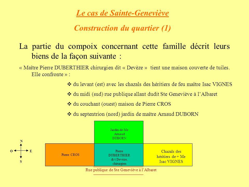 Le cas de Sainte-Geneviève Construction du quartier (1)