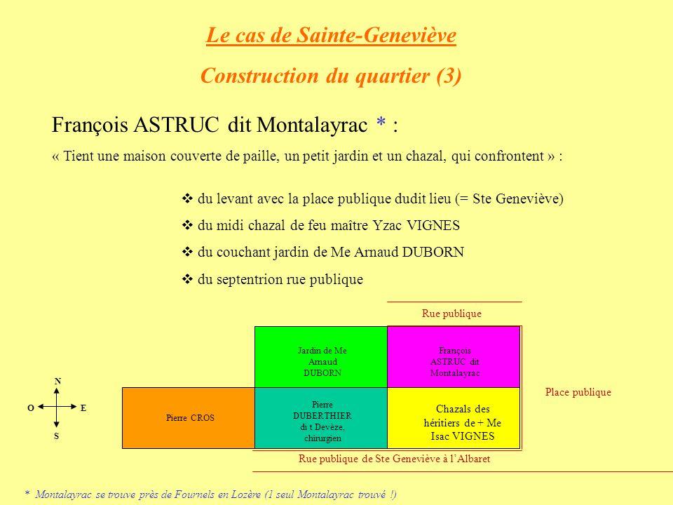 Le cas de Sainte-Geneviève Construction du quartier (3)