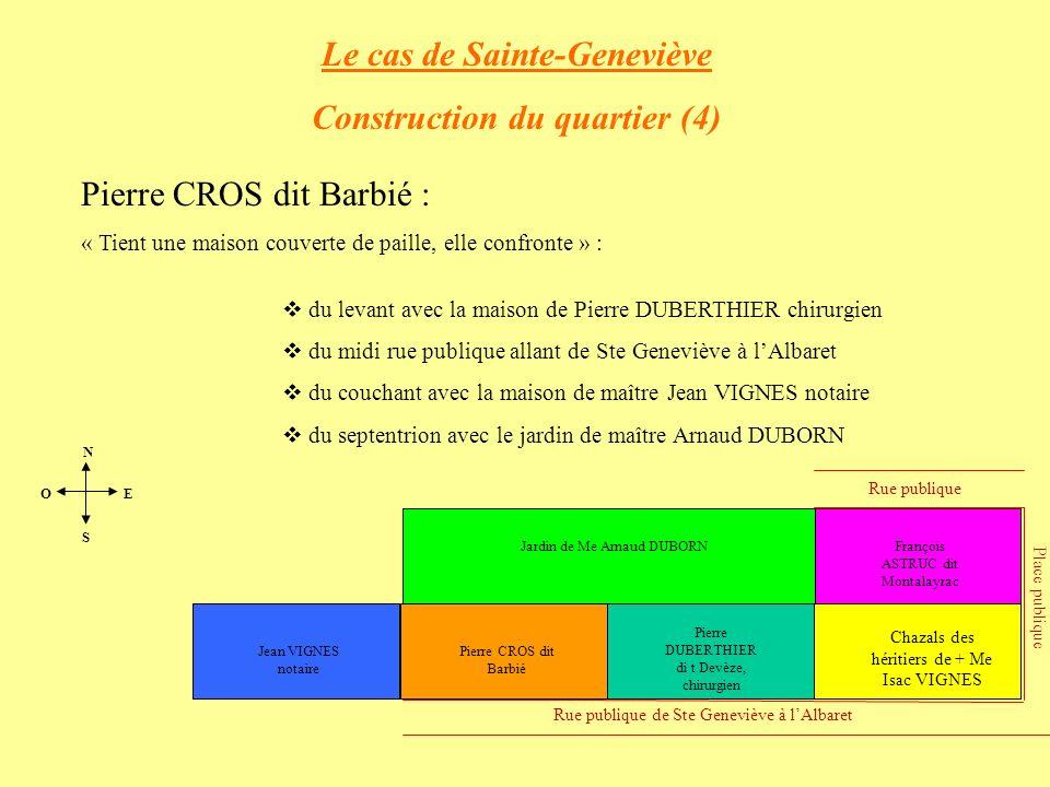 Le cas de Sainte-Geneviève Construction du quartier (4)