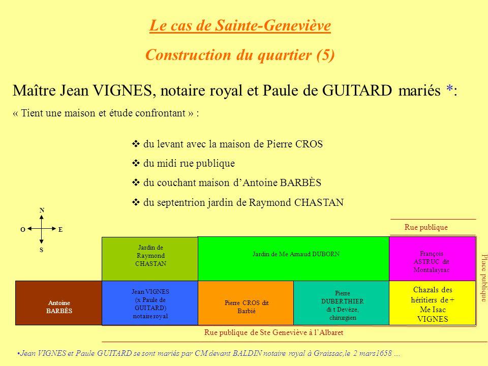 Le cas de Sainte-Geneviève Construction du quartier (5)