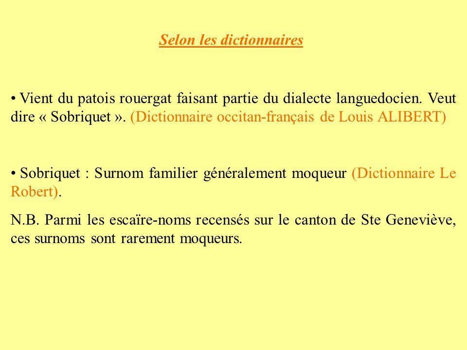Selon les dictionnaires