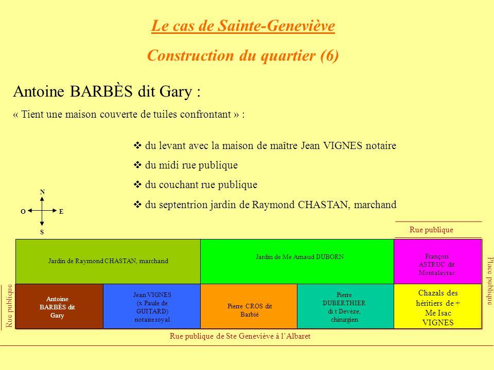 Le cas de Sainte-Geneviève Construction du quartier (6)